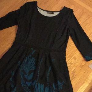 Reborn scoop long sleeve dress XL